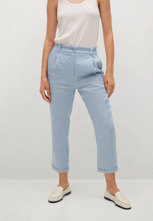 женские повседневные брюки mango, голубые