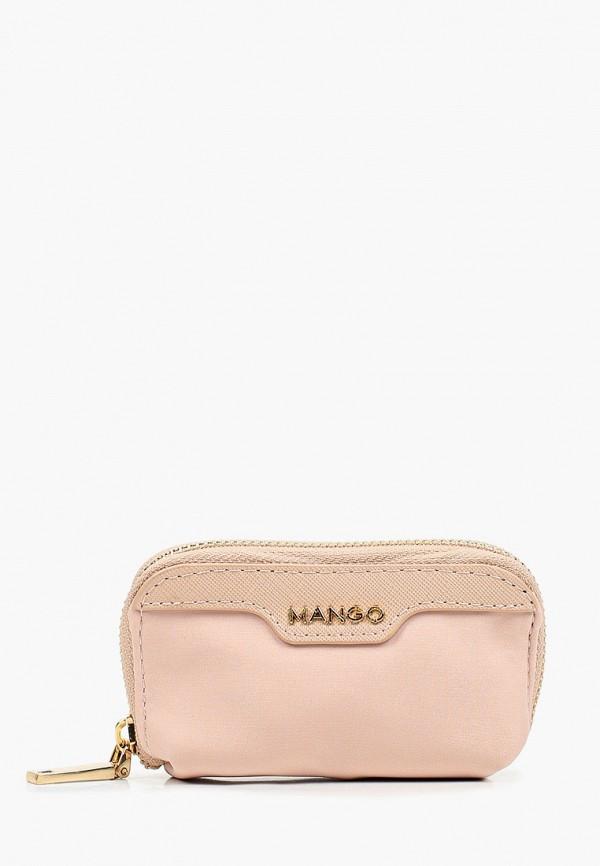 женский кошелёк mango, розовый