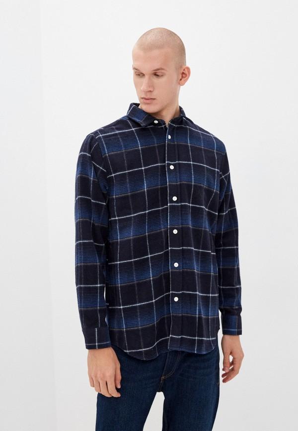 мужская рубашка с длинным рукавом koton, синяя