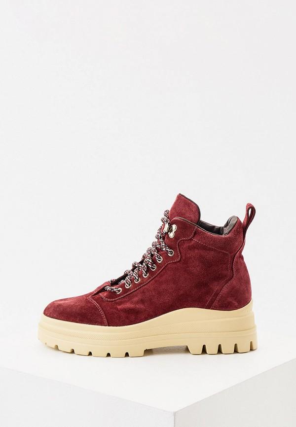 женские высокие ботинки fratelli rossetti one, бордовые