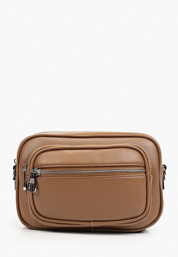 женская сумка через плечо baggini, хаки