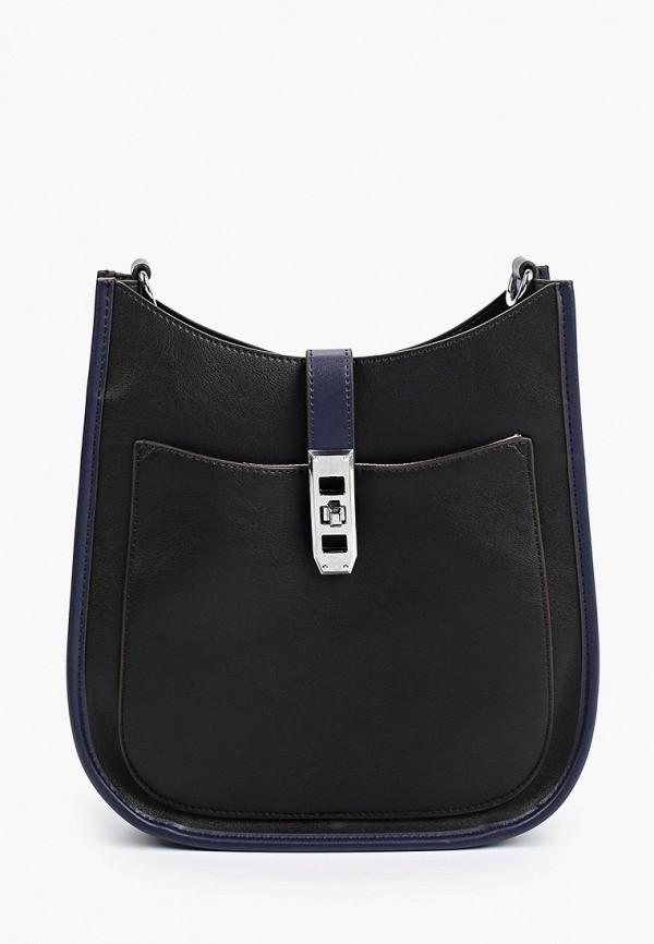 женская сумка через плечо baggini, синяя