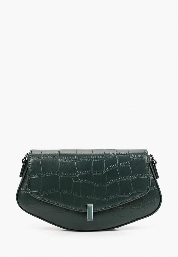 женская сумка через плечо baggini, зеленая