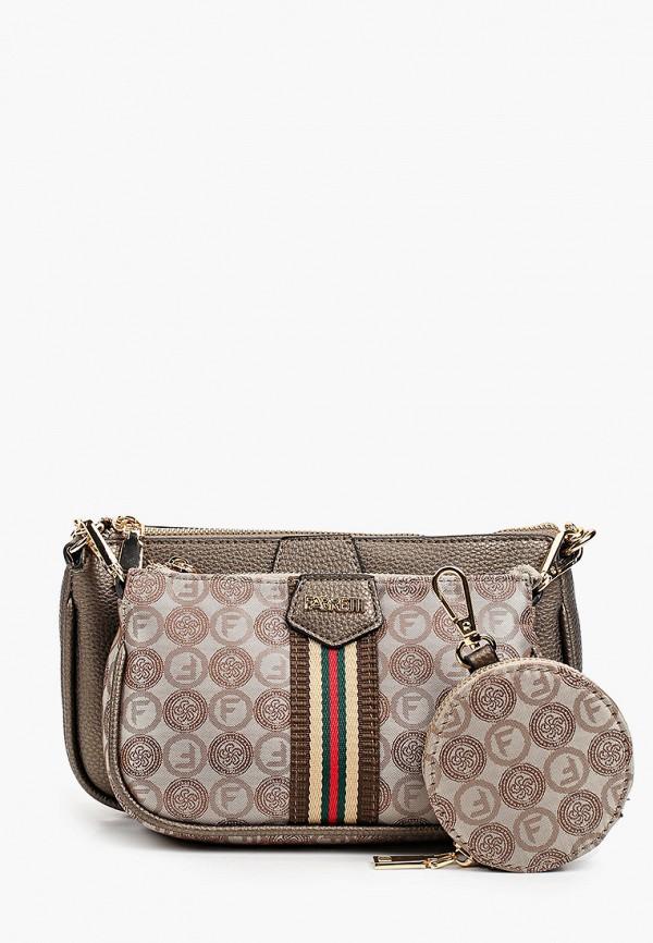 женский кошелёк с ручками fabretti, разноцветный