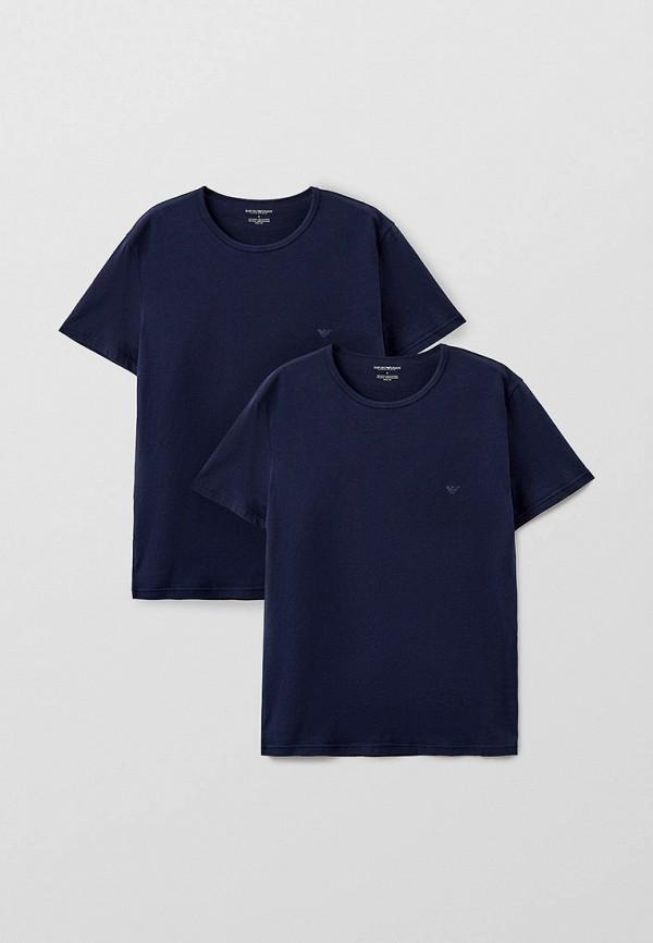 мужская футболка с коротким рукавом emporio armani, синяя