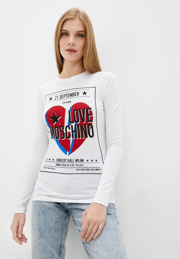 женский лонгслив love moschino, белый