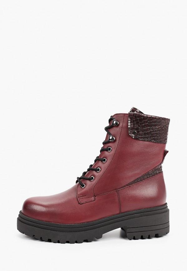 женские высокие ботинки d.moro, бордовые