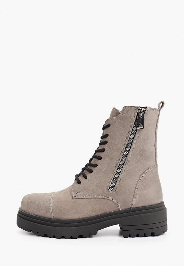 женские высокие ботинки d.moro, серые
