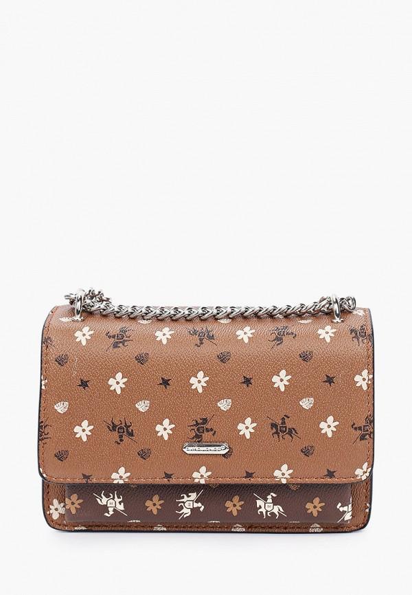 женская сумка через плечо david jones, коричневая