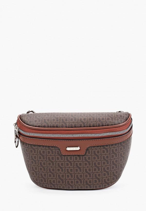 женская поясные сумка david jones, коричневая