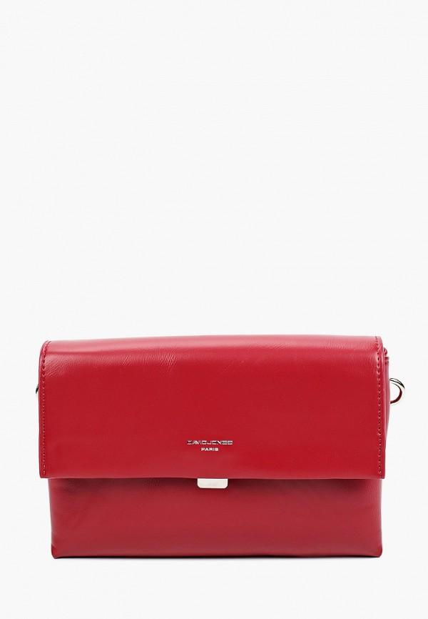 женская сумка через плечо david jones, бордовая