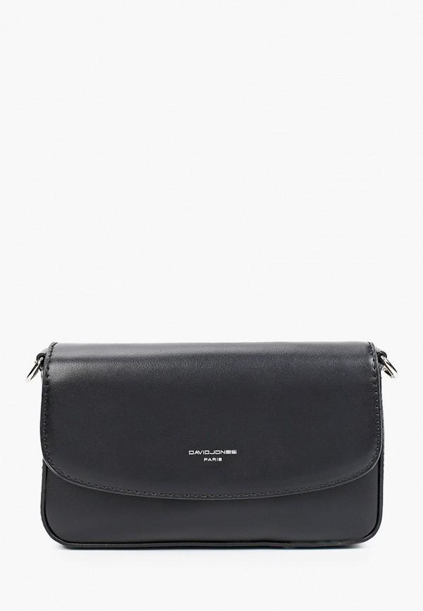 женская сумка через плечо david jones, черная