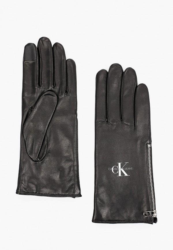 женские перчатки calvin klein, черные