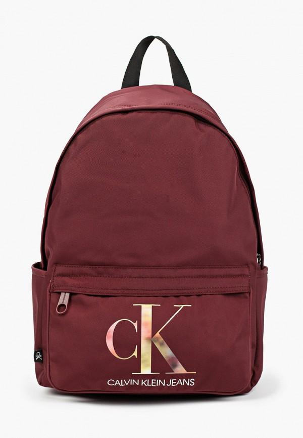 женский рюкзак calvin klein, бордовый