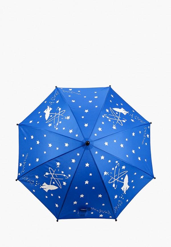 зонт-трости котофей для мальчика, синий