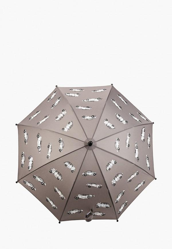 зонт-трости котофей для мальчика, серый
