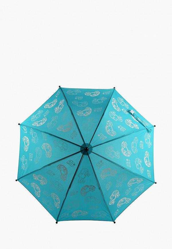 зонт-трости котофей для мальчика, бирюзовый