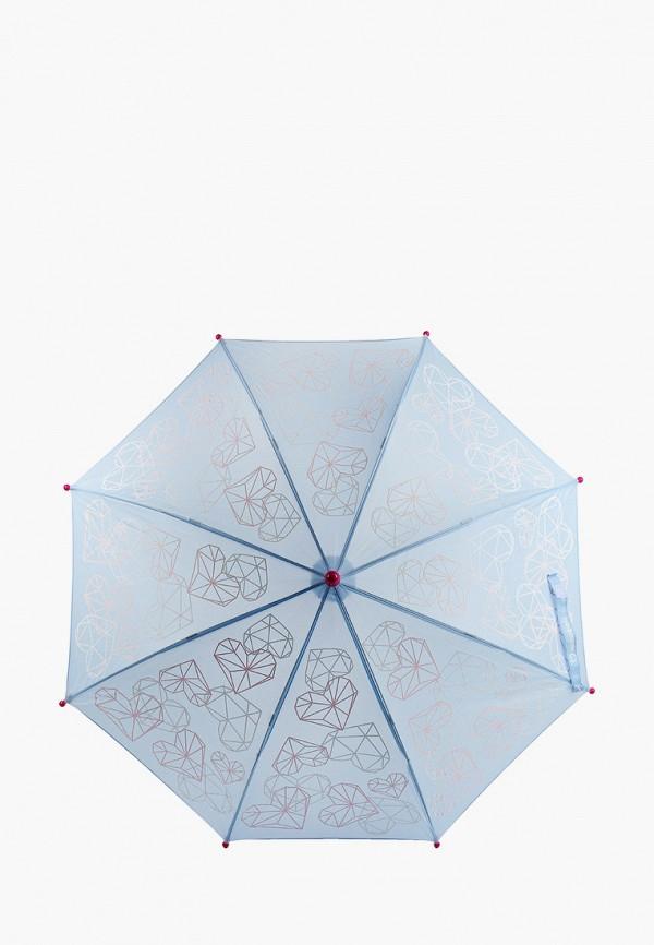 зонт-трости котофей для девочки, голубой