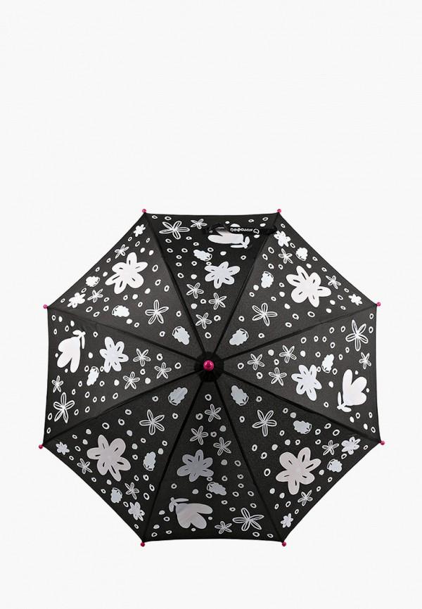 зонт-трости котофей для девочки, черный