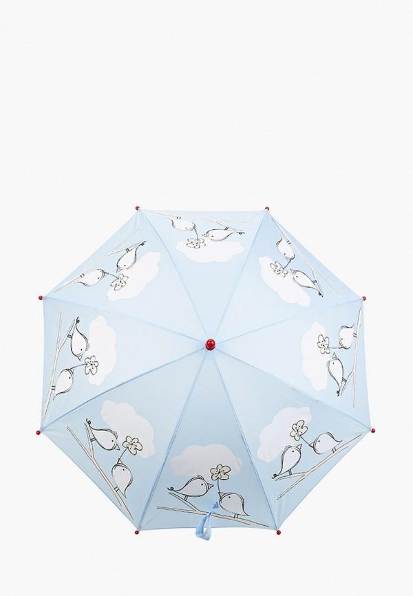 складные зонт котофей для девочки, голубой