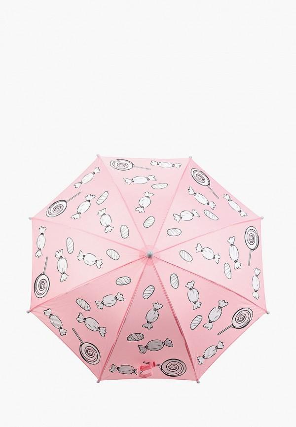зонт-трости котофей для девочки, розовый