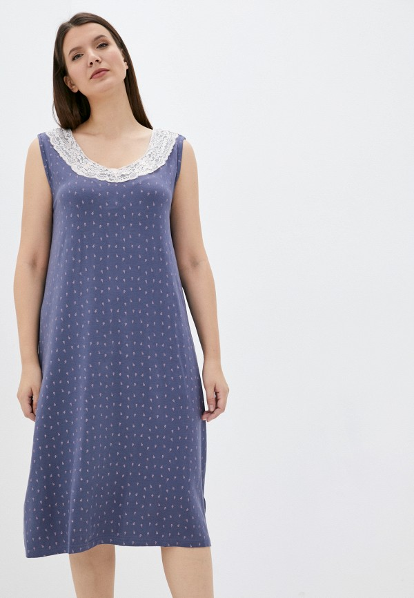 Платье джинсовое Ulla Popken синего цвета