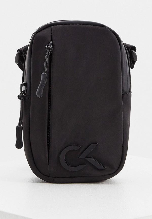 женская сумка через плечо calvin klein, черная