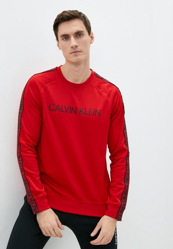 мужской спортивные свитшот calvin klein, красный