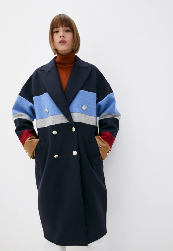Пальто Tommy Hilfiger синего цвета