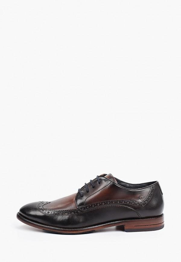 мужские туфли-дерби bugatti, коричневые