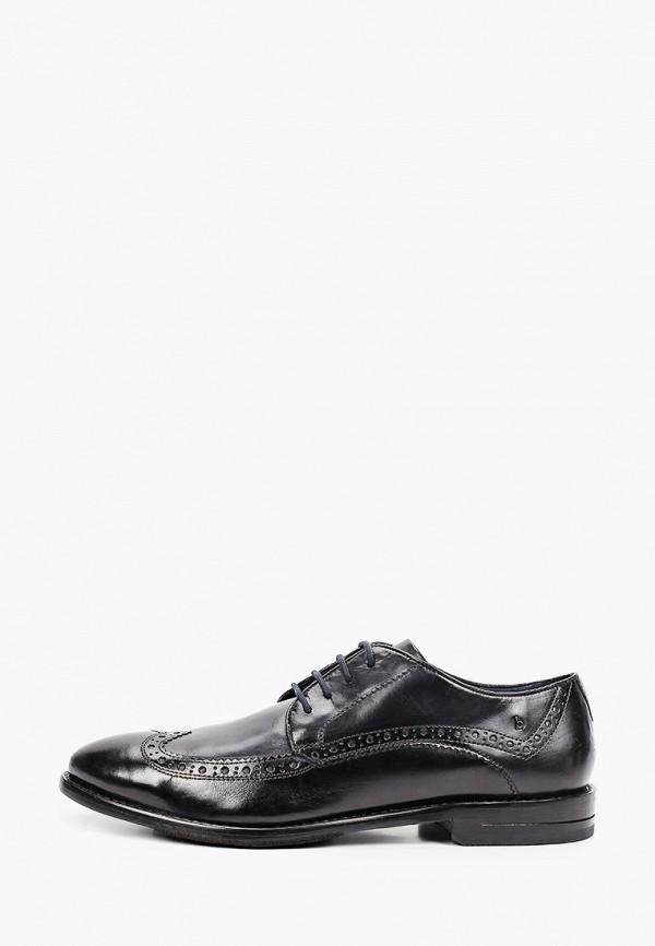 мужские туфли-дерби bugatti, черные