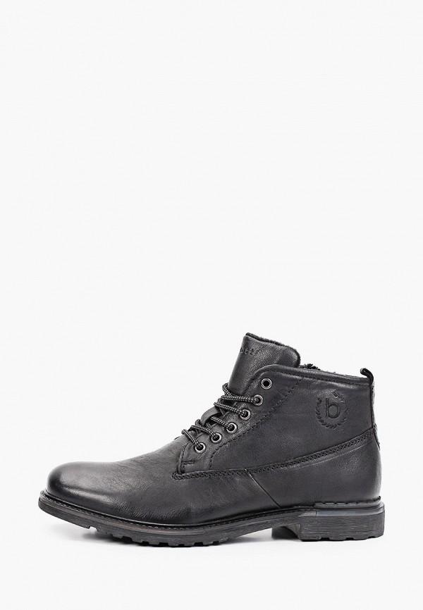 мужские высокие ботинки bugatti, черные