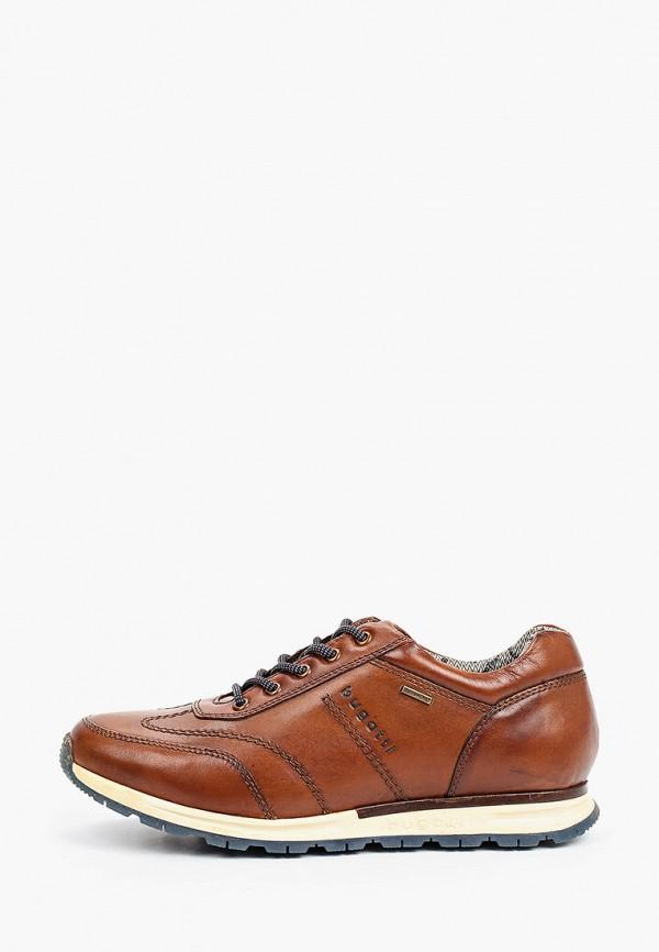 мужские низкие кроссовки bugatti, коричневые
