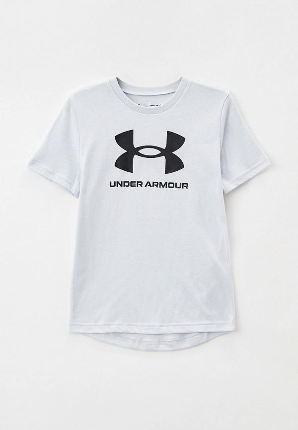 футболка с коротким рукавом under armour для мальчика, серая