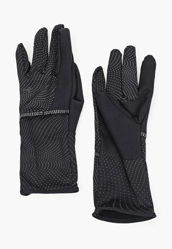 женские перчатки under armour, черные