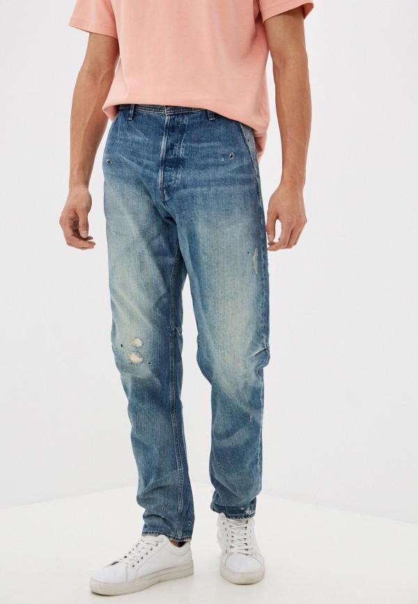 мужские прямые джинсы g-star raw, голубые