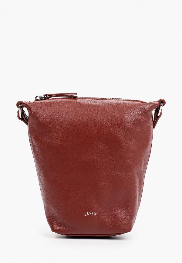 женская сумка через плечо levi's®, бордовая