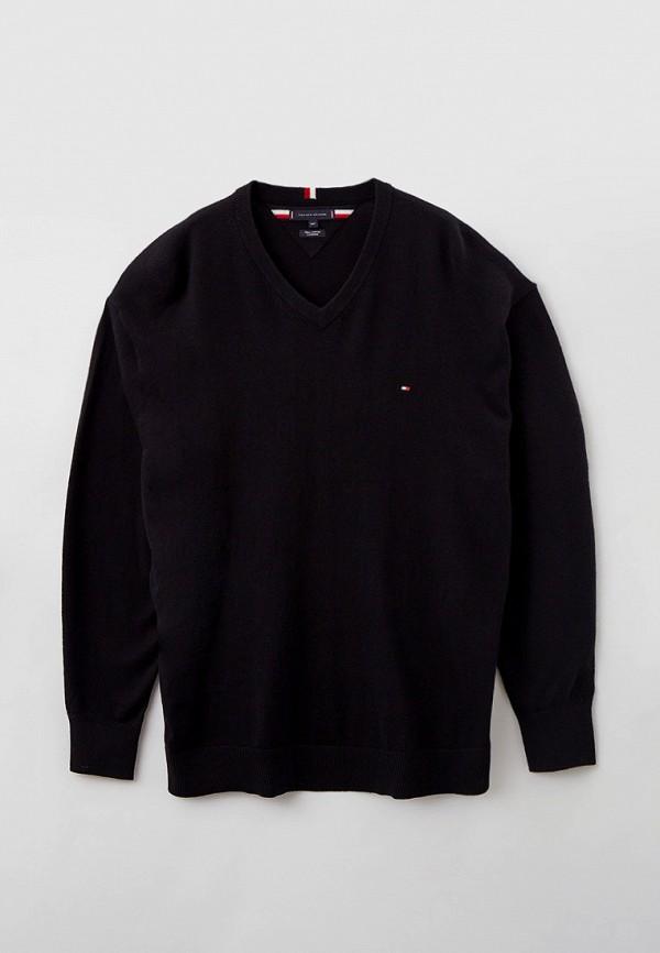 мужской пуловер tommy hilfiger, черный