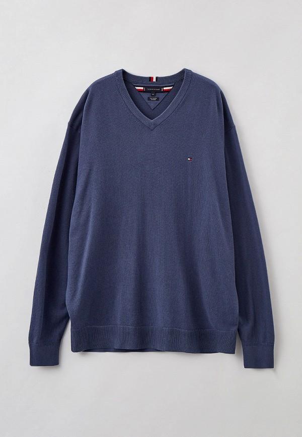 мужской пуловер tommy hilfiger, синий