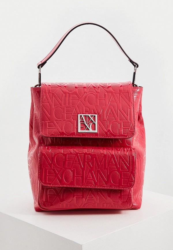 женский рюкзак armani exchange, розовый