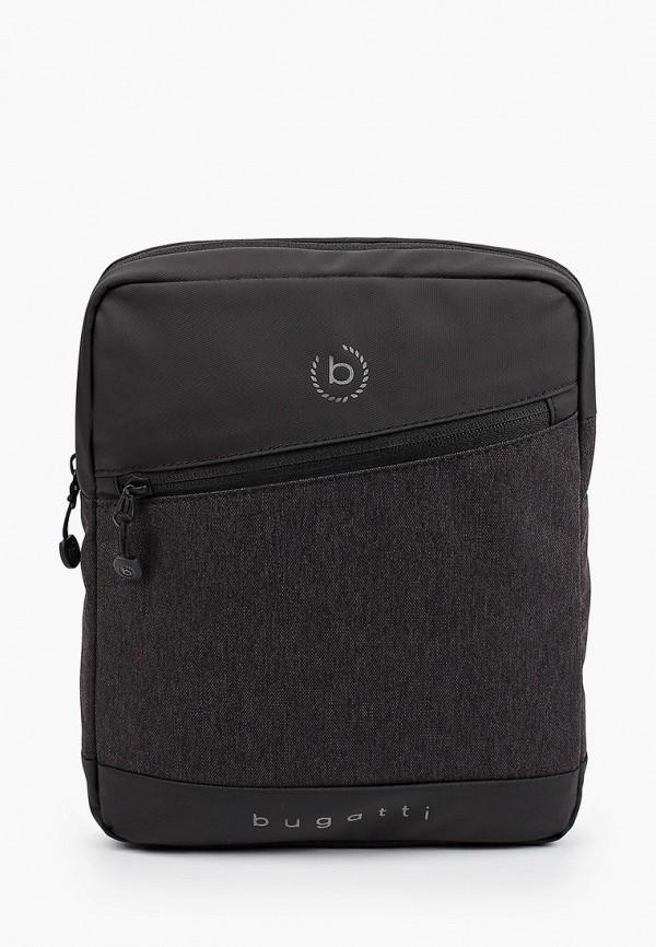 мужская сумка через плечо bugatti, серая