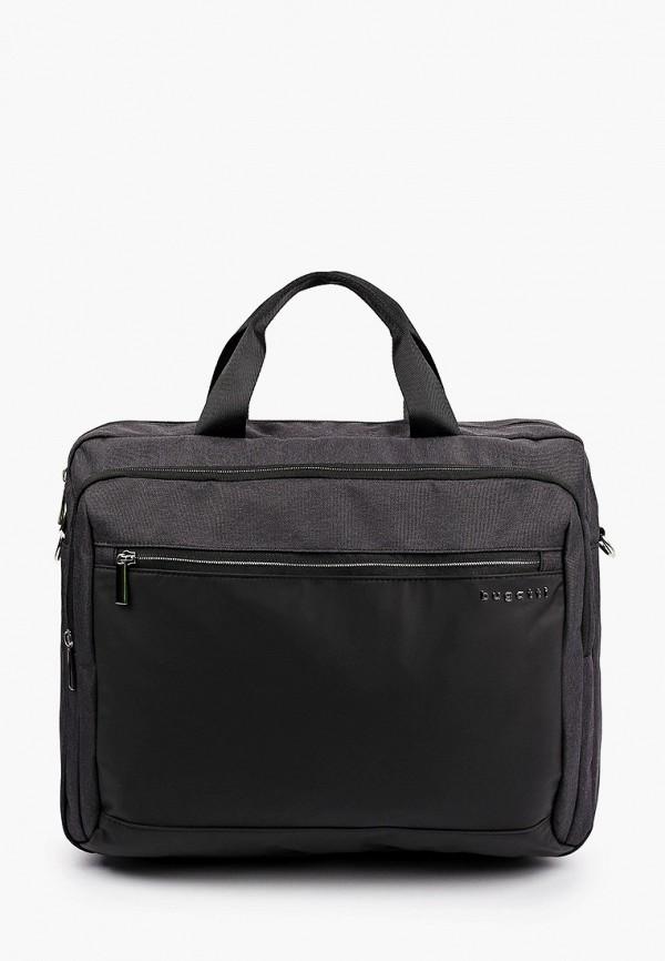 мужская сумка с ручками bugatti, серая