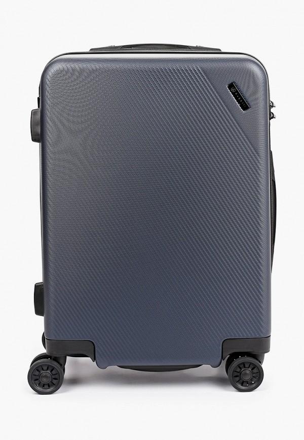 женский чемодан bugatti, синий