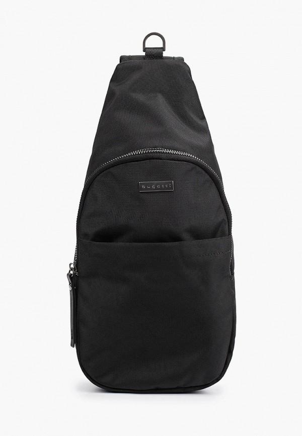 мужская сумка через плечо bugatti, черная