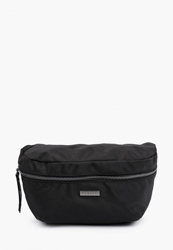 мужская поясные сумка bugatti, черная