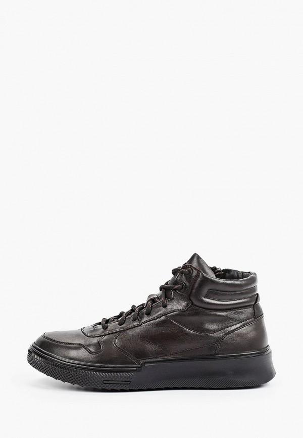 мужские высокие ботинки strobbs, коричневые