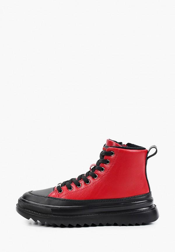 женские высокие ботинки strobbs, красные