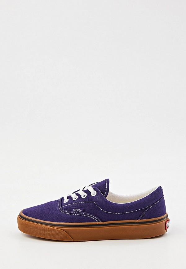 женские низкие кеды vans, фиолетовые