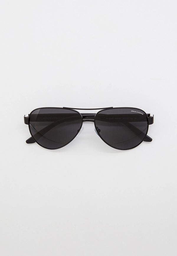 мужские авиаторы солнцезащитные очки armani exchange, черные