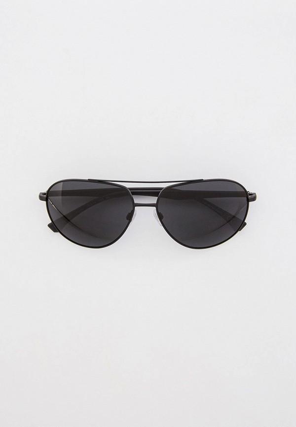 мужские авиаторы солнцезащитные очки emporio armani, черные